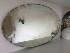 LNER Antique Pre-War Train Carriage Restrooms Oval Mirror