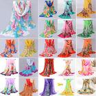 New Fashion Women Soft Voile Cotton Scarf Wrap Silk Chiffon Shawl Stole Scarves