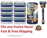 9 Gillette FUSION Razor Blades Refills Cartridges Proglide FLEXBALL Shaver 8 4