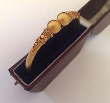 Una splendida 18ct oro giallo bracciale in filigrana Georgiano circa anni 1800