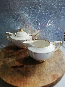 James Sadler Venice Gold Creamer Milk Jug Sugar Bowl Mid Century Modern Vgc RARE