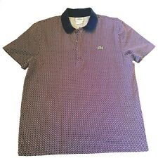 Lacoste Alligator Polo Shirt Sz 5 Medium Slim Fit Crocodile Rugby Casual