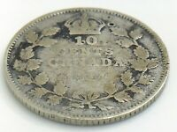 1914 Canada 10 Ten Cent Silver Dime Canadian Circulated George V Coin J283