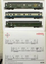 Märklin 41576 H0 InterCity Bahnpostwagen-Set 1950 Gründung der Bundespost, Licht