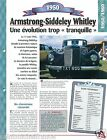 Armstrong-Siddeley Whitley 6 Cyl. 1950 UK England Car Auto Retro FICHE FRANCE
