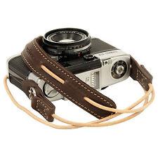 Dark Brown leather neck strap for RF film Digital camera GX1 E-P X10 J1 Leica
