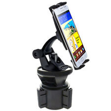 VIBRATION FREE Car Cup Holder Mount for Samsung Galaxy S6 S5 Note 4 5 HTC ONE HD