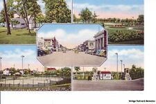 ALEXANDRIA MN 1945 Five Views of Town and Area VINTAGE