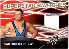 WWE Santino Marella GOLD Topps 2011 Superstar Swatches Shirt Relic Card SN 12/50
