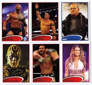 2012 WWE COMPLETE set of 90 trading cards TOPPS wrestling wrestlers WWF TNA TNT