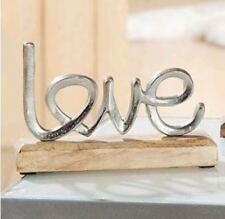 GILDE Schriftzug Love aus Alu auf Mangoholz - 48273