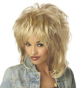 Rockin' Soul Wig Blonde 80's Tina Fancy Dress Halloween Adult Costume Accessory