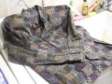 """BD Baggies Green, Blue & Burgundy """"Quilt Block"""" Button Down Long Sleeve Shirt"""