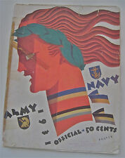 1931--ARMY v. NAVY--FOOTBALL PROGRAM--VG
