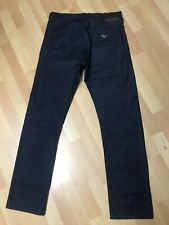 MINT MENS ARMANI JEANS J21 STRETCH CHINO BLACK REGULAR W31 L31 H7.5 RRP£150