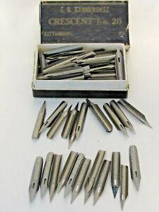 Lot of 108 Vintage Dip Pen Calligraphy Nibs JBK Crescent No. 16 No. 20