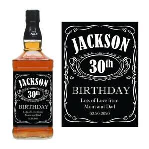 PERSONALISED NAME JACK DANIELS WHISKEY BOTTLE LABEL BIRTHDAY BOURBON JD