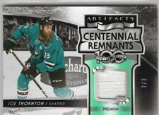 2017-18 ARTIFACTS CENTENNIAL REMNANTS GAME USED FIGHTSTRAP /3 JOE THORNTON RARE!
