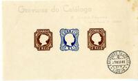 Portugal Essay Stamp Sheet of 3 with Lisbon Exposition Cancel