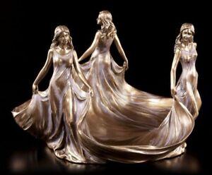 Jugendstil Schale - Drei Jungfrauen - Figur Veronese Art Nouveau Grazien Frauen