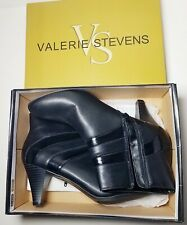 Valerie Stevens Ankle Zipper Boots Style Hunter GP011 Women's Shoes Size 9 Black