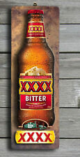 XXXX Bitter 3D LOOK Rustic Wooden BAR Plaque / Sign (FREE POST) Stubby Image