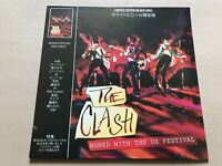 The clash  Bored With The US Festival - Red Vinyl rare live show punk coda label