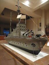 ANTIQUE VINTAGE GREEK NAVY NAVAL SHIP DESTROYER PANTHIR BATTLESHIP FOLK ART