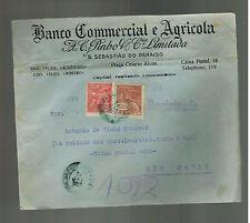 1927 San Sebatiao do paraiso Brazil Register cover to Sao Paulo Commercial Bank
