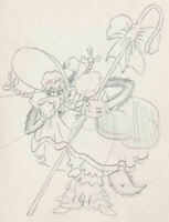 1936 RARE WALT DISNEY BIG BAD WOLF ORIGINAL PRODUCTION ANIMATION DRAWING CEL