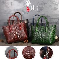 Women Handbag Crocodile Grain Genuine Leather Crossbody Messenger Shoulder Bag