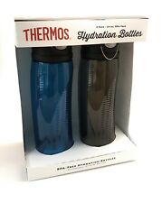Thermos Hydration Water Bottle 2 pack 24oz Blue Green / Gray BPA Free Brand New