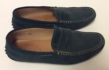 Tod's Driving Loafers Shoes Mocs Dark Green Suede Mens Sz 7.5