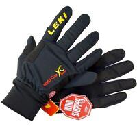 LEKI RACE XC Kinder Langlauf Handschuhe Softshell Skihandschuh Ski Glove schwarz