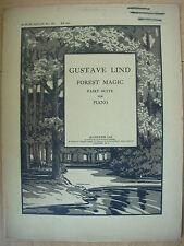 Gustave Lind FORESTA MAGIC FAIRY suite per pianoforte-augener Ltd