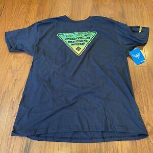Columbia Sportswear CSW Mens PFG Triangle Lewin Cotton Tee Size XL Navy $28