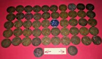 1941 to 1958P-D Wheat Pennies Assorted + 2 Indian Head