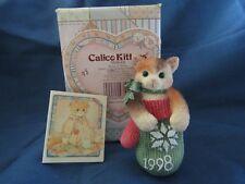 Calico Kittens Kitten In Mitten Orn # 359645 Priscilla Hillman 1998 Figurine