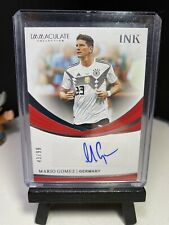 2018-19 Panini Immaculate Soccer MARIO GOMEZ Ink Autograph 43/99 Germany AUTO