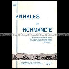 ANNALES DE NORMANDIE N°3/1983 LE LOUP au 14 & 15 ème SIECLE PORION LITTRY WALRAS