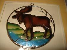 RARE Capiz Shells Gift Deco Handcrafted Card Window Ornament Elk Moose