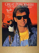 1989 andre agassi photo Ray-Ban Sunglasses vintage print Ad