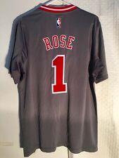 Adidas Swingman 2015-16 NBA Jersey Chicago Bulls Rose Grey Short S sz 3X