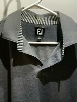 FootJoy FJ Men's Golf Polo Shirt Grey Short Sleeve Size XL Golfer - FJ LOGO