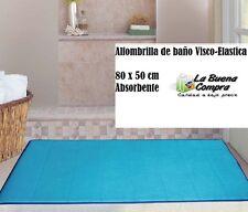 ALFOMBRILLA DE BAÑO VISCO-ELASTICA ALFOMBRA DE BAÑO 80X50CM ABSORBENTE COLOR