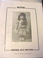 "RUTHIE~Kezi  Matthews 15"" *RARE OOP 1989 beautiful~easy cloth art doll pattern"