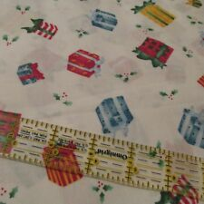 Daisy Kingdom Tossed Presents cotton christmas fabric white Noah Noel BTHY