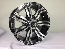 4x DISPLAY 15 inch 4WD Machine Black wheels FOR 4WD HILUX,RANGER,BT50,RODEO