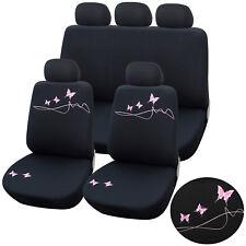 Autoschonbezüge Sitzbezüge Schonbezug Sitzbezug Universal Schwarz/Rosa AS7304