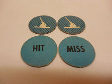 DOGFIGHT GAME PIECES BLUE CHECKERED ANTI-AIR TOKENS  (American Heritage) MB
